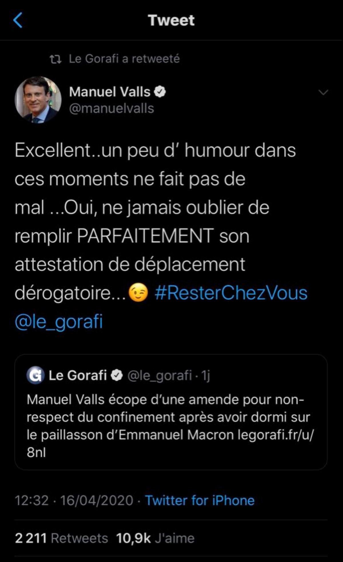 Covid-19 : un journal se moque de l'ex-PM français, regardez comment il répond