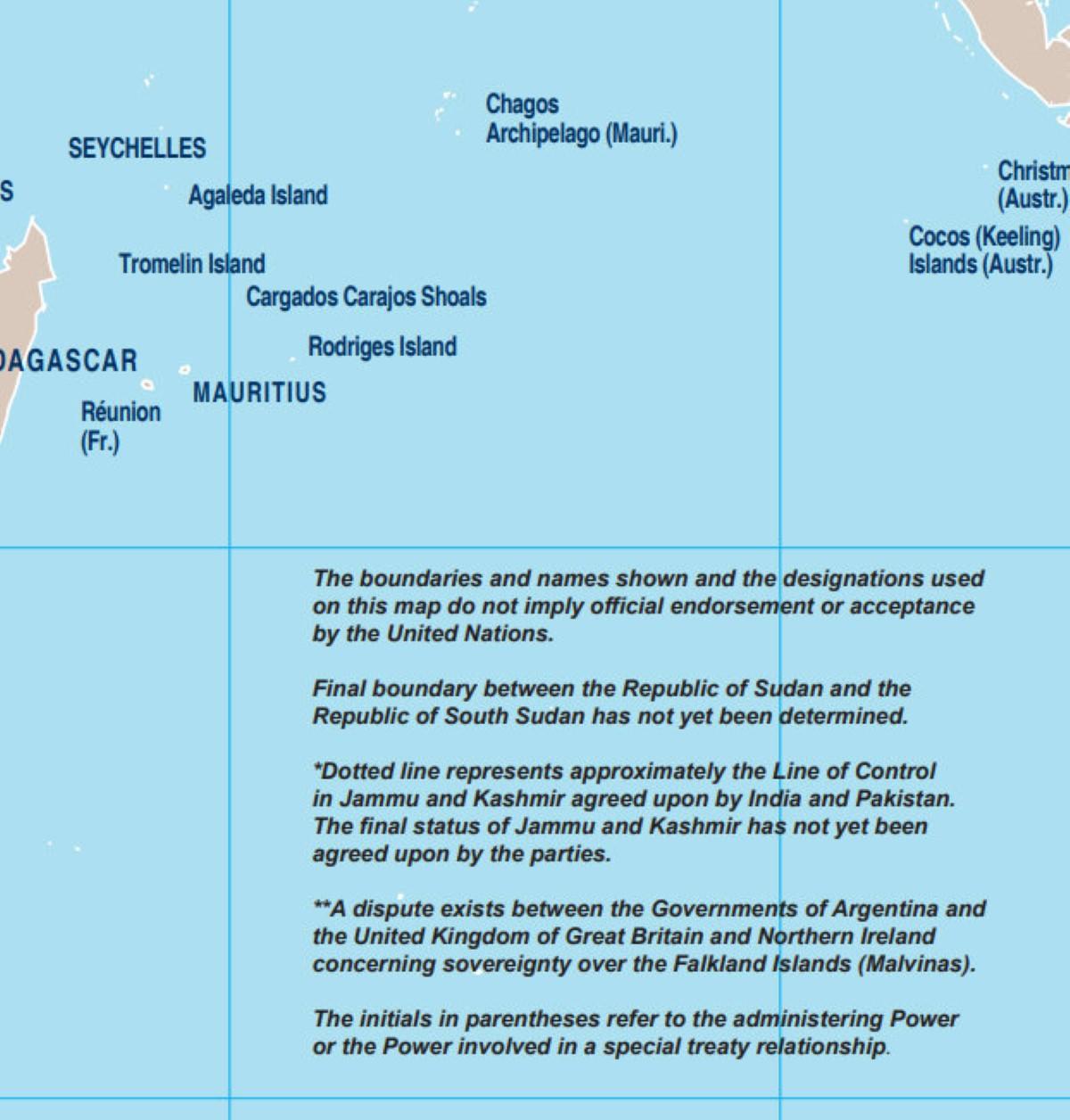 Les Chagos comme territoire mauricien sur la mappemonde  : Bancoult se réjouit