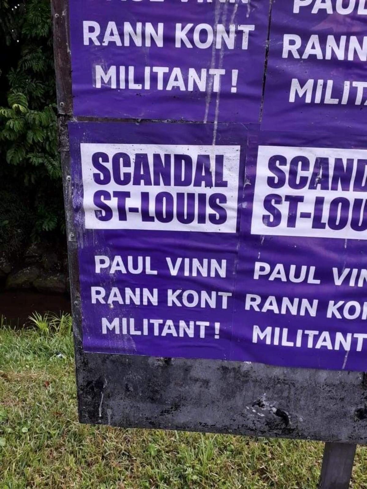 Une campagne contre Bérenger avec des affiches dans les circonscriptions 19 et 20