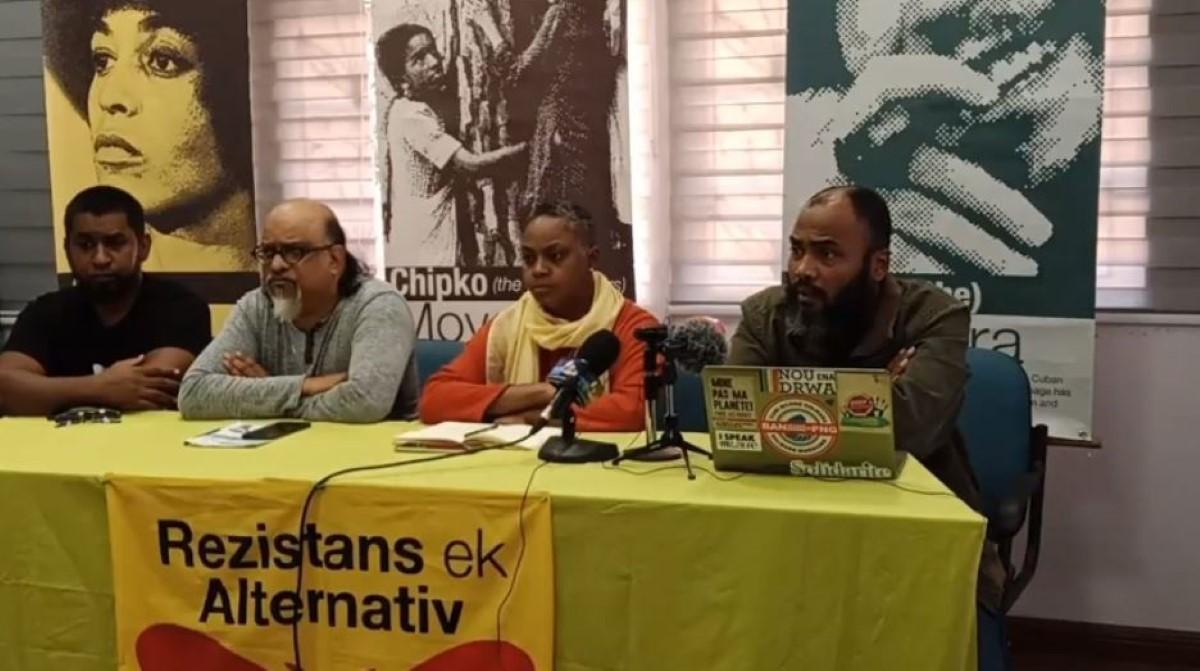 Rezistans ek Alternativ déplore l'indifférence du gouvernement face aux revendications et préoccupations des Mauriciens