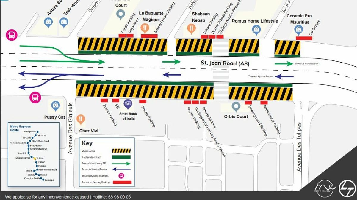 Quatre-Bornes: Déviation à prévoir en raison des travaux du Metro Express