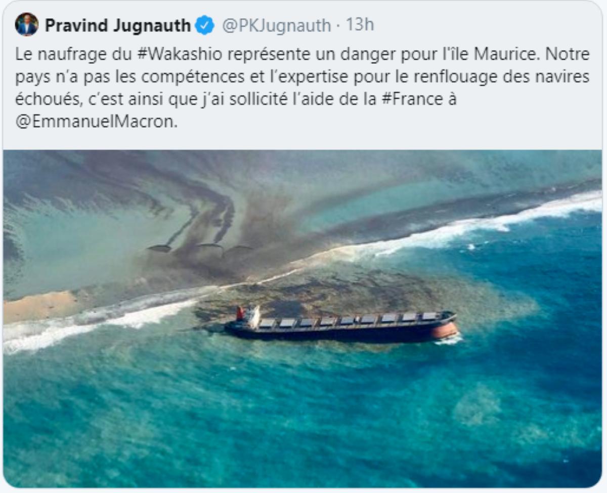 Dans un Tweet, Pravind Jugnauth avoue: « Maurice n'a pas les compétences et l'expertise… »