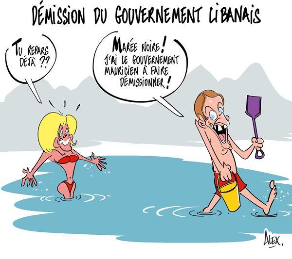 Le clin d'oeil de Alex, dessinateur français, au gouvernement mauricien
