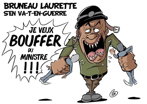 [KOK] Le dessin du jour : Bruneau Laurette s'en va-t-en-guerre