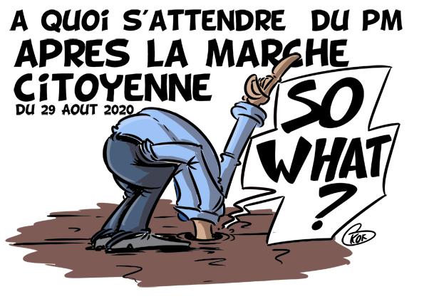 [KOK] Le dessin du jour : A quoi s'attendre du PM après la marche citoyenne du 29 Août 2020