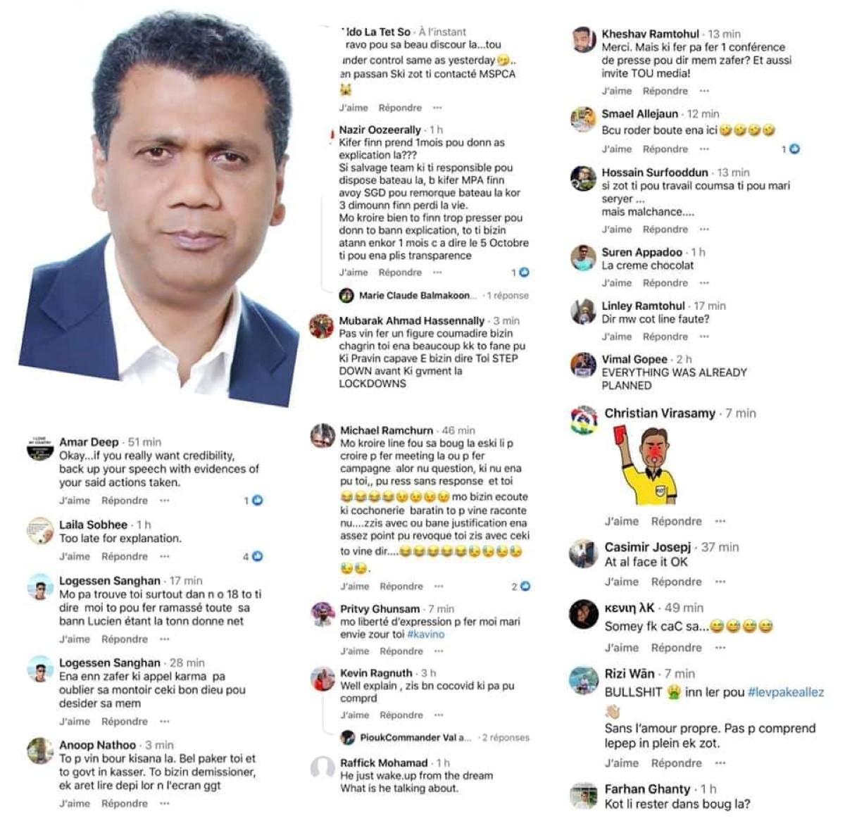 Pluie de critiques sur les pages officielles de Kavy Ramano et Kalpana Devi Koonjoo-Shah