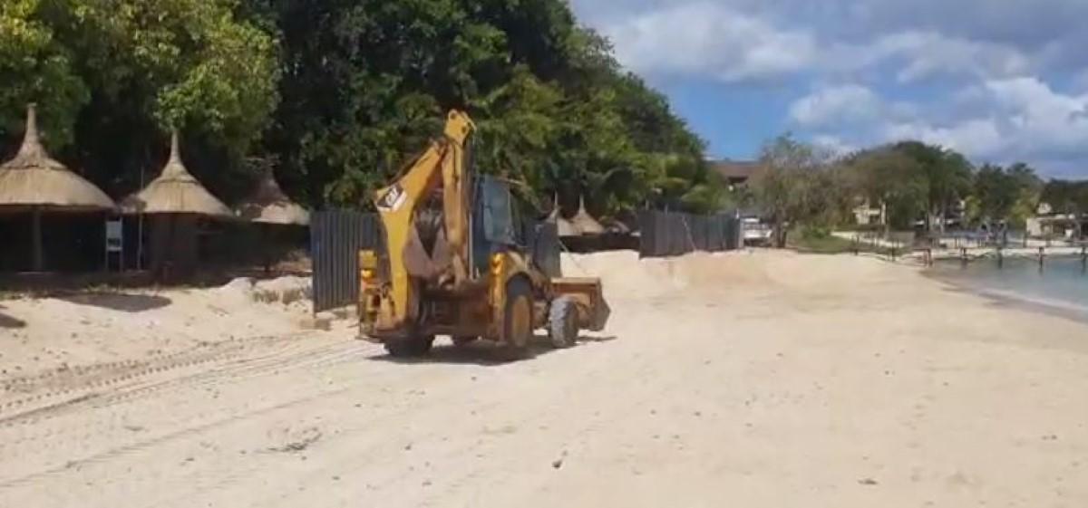 Arrêt des travaux d'extraction de sable à l'hôtel Maritime à Balaclava