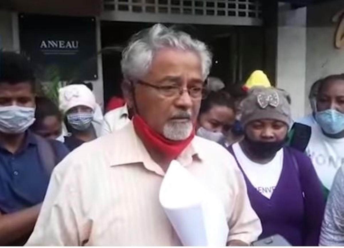 Manifestation devant le ministère de la Pêche le 1er octobre