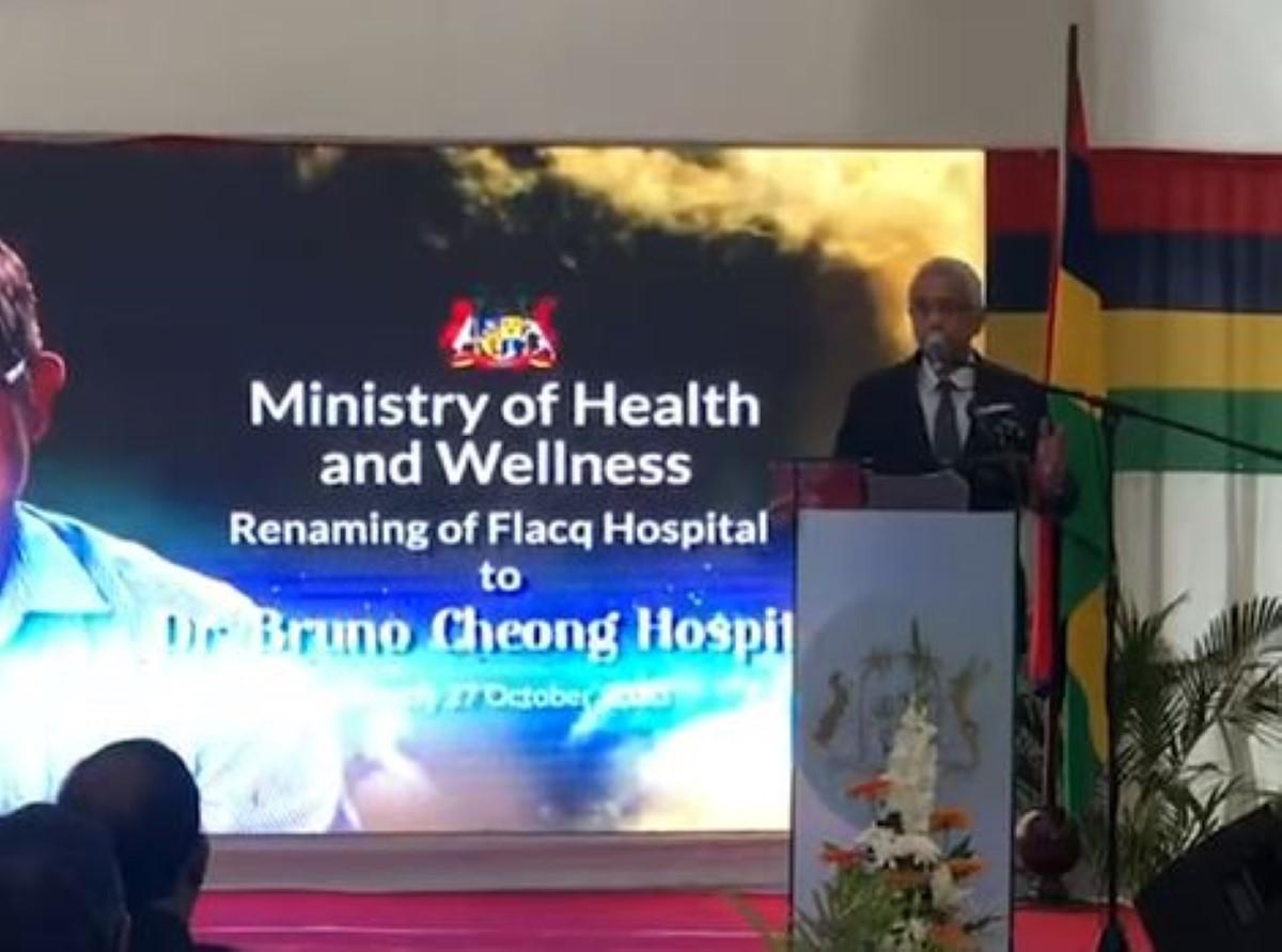 Lors d'un hommage à l'hôpital de Flacq au nom du Dr Bruno Cheong, Jugnauth distille son venin contre l'opposition