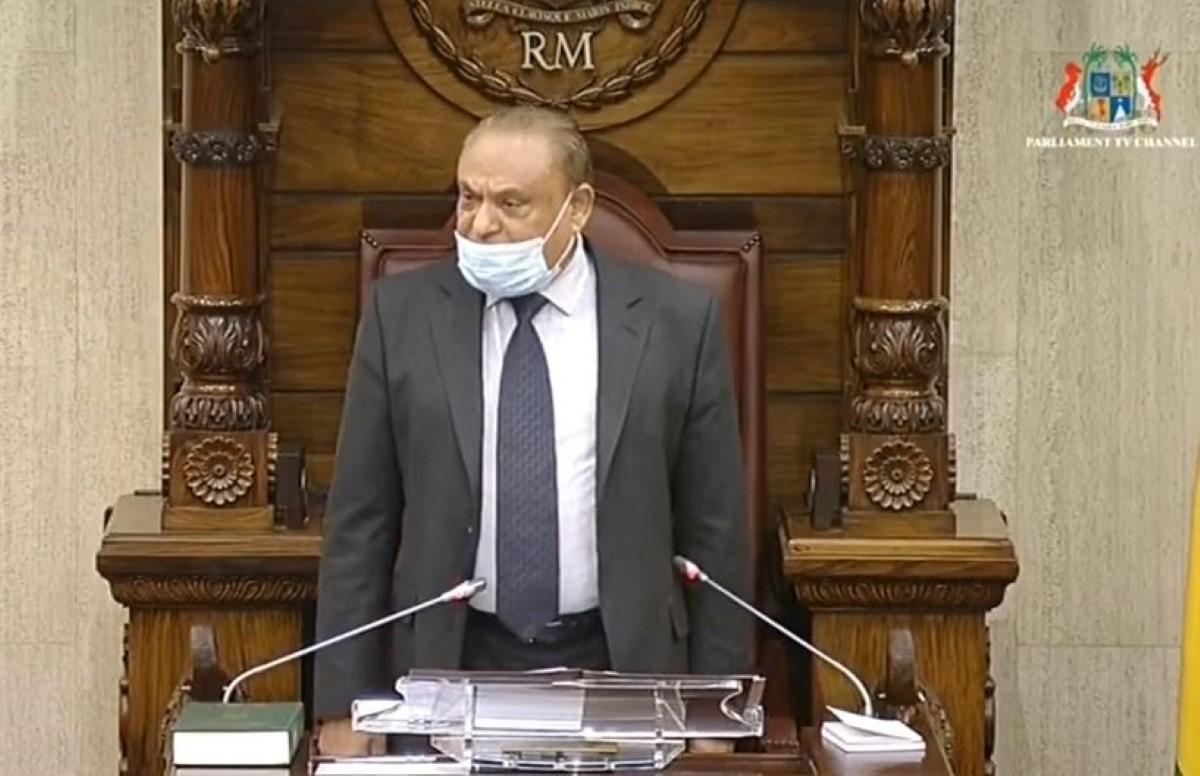Le Speaker accuse Boolell de mépris envers l'Assemblée nationale