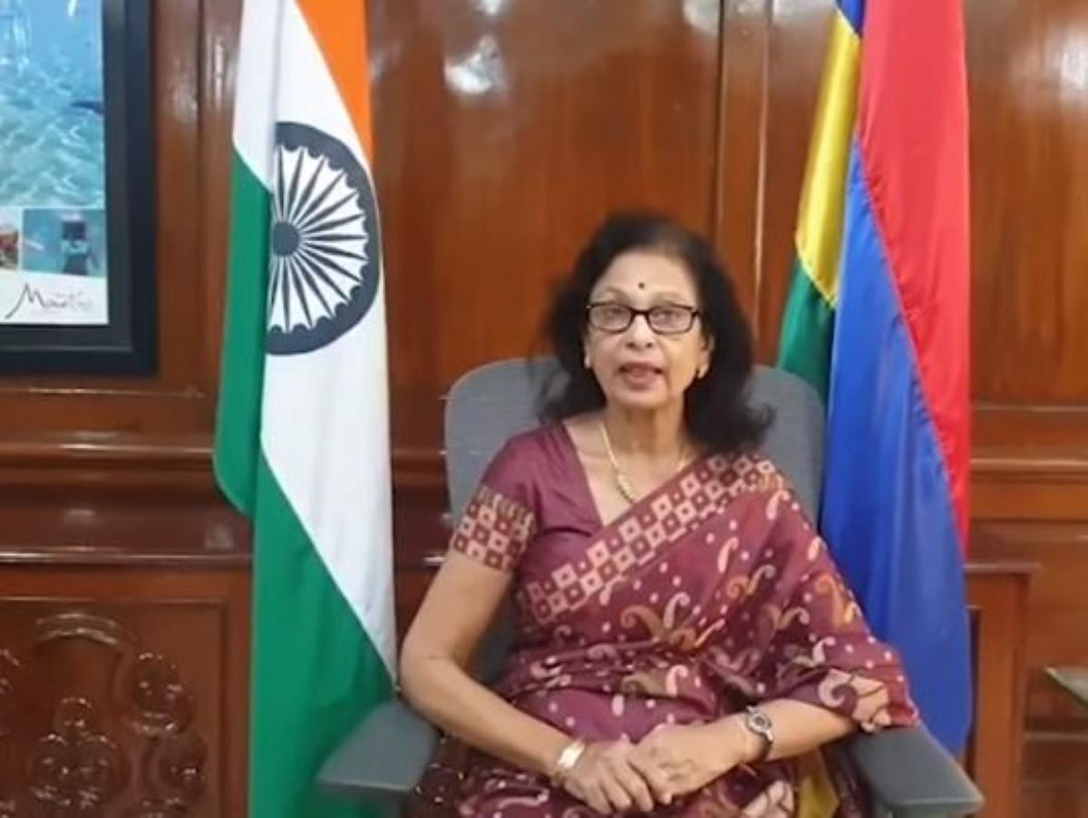 Le Haut commissaire en Inde, Maya Hanoomanjee fait du télé travail à son domicile depuis août 2020