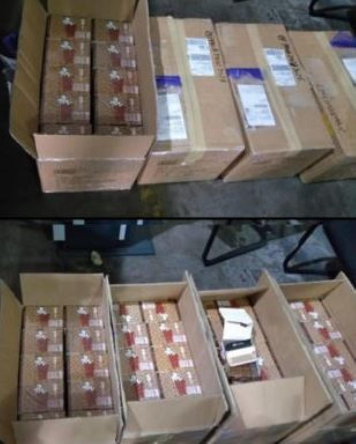 Plaisance : saisie de 550 000 feuilles à rouler en provenance de Chine sur un vol de MK