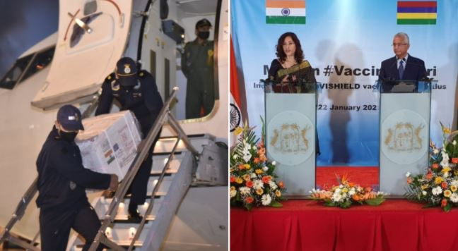 Accueil superstar pour l'arrivée des vaccins contre le Covid-19 en provenance de l'Inde à Maurice