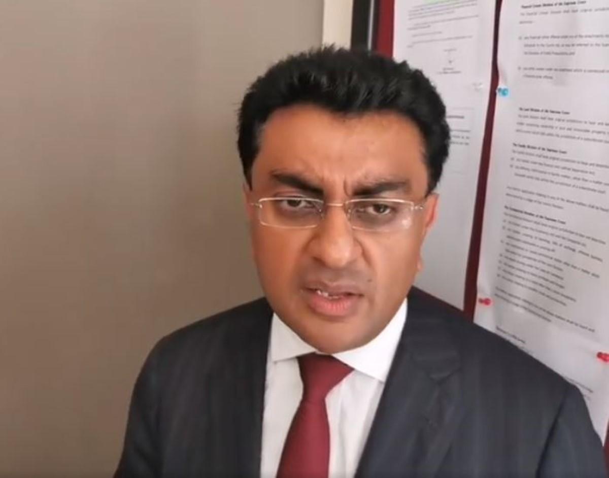 Varma : « Un avocat ne peut tenir de meeting »