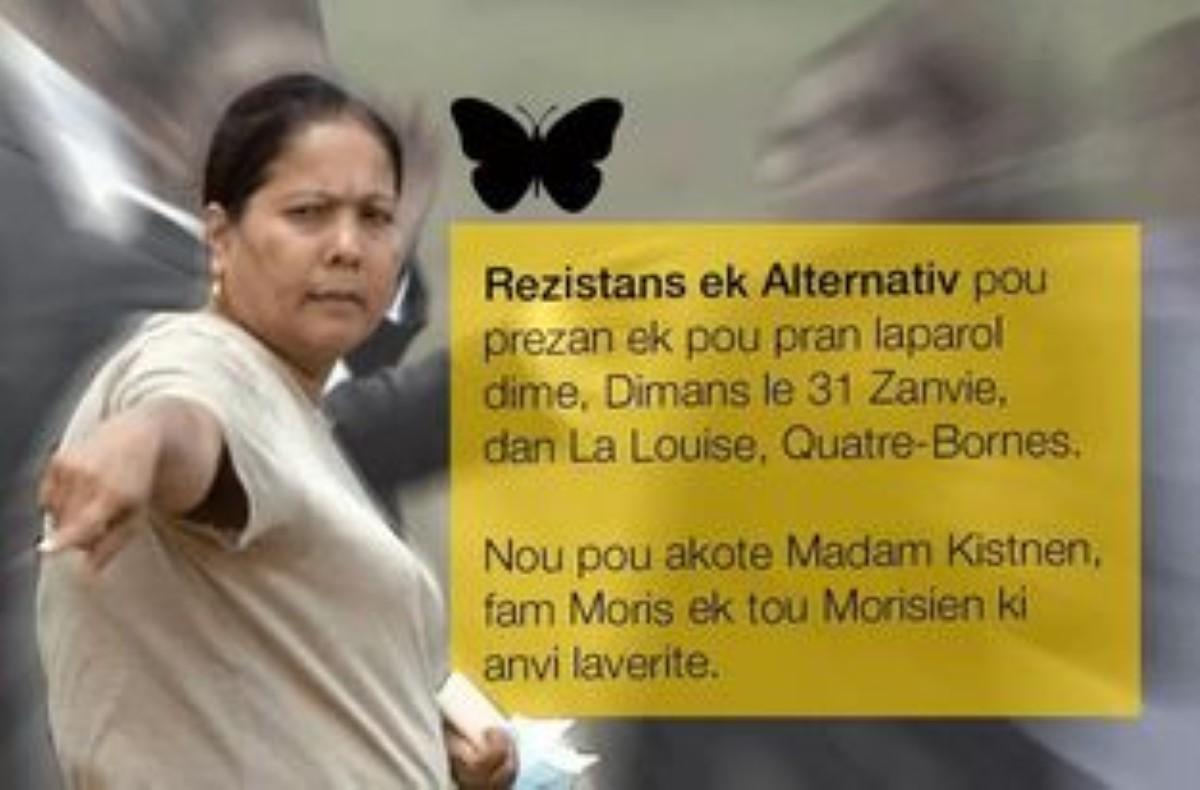 Rezistans ek Alternativ annonce leur participation ce dimanche à La Louise