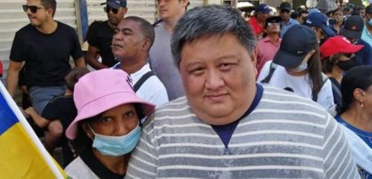 L'ancien maire des villes-sœurs et lieutenant d'Ivan Collendavelloo, Ken Fong était à Port Louis