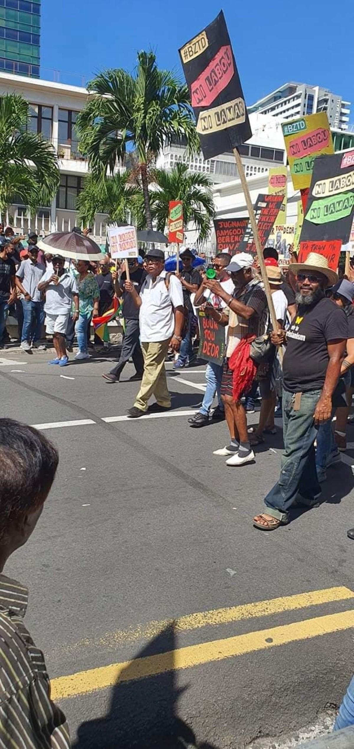 Ashok Subron annonce d'autres manifestations dans les semaines à venir