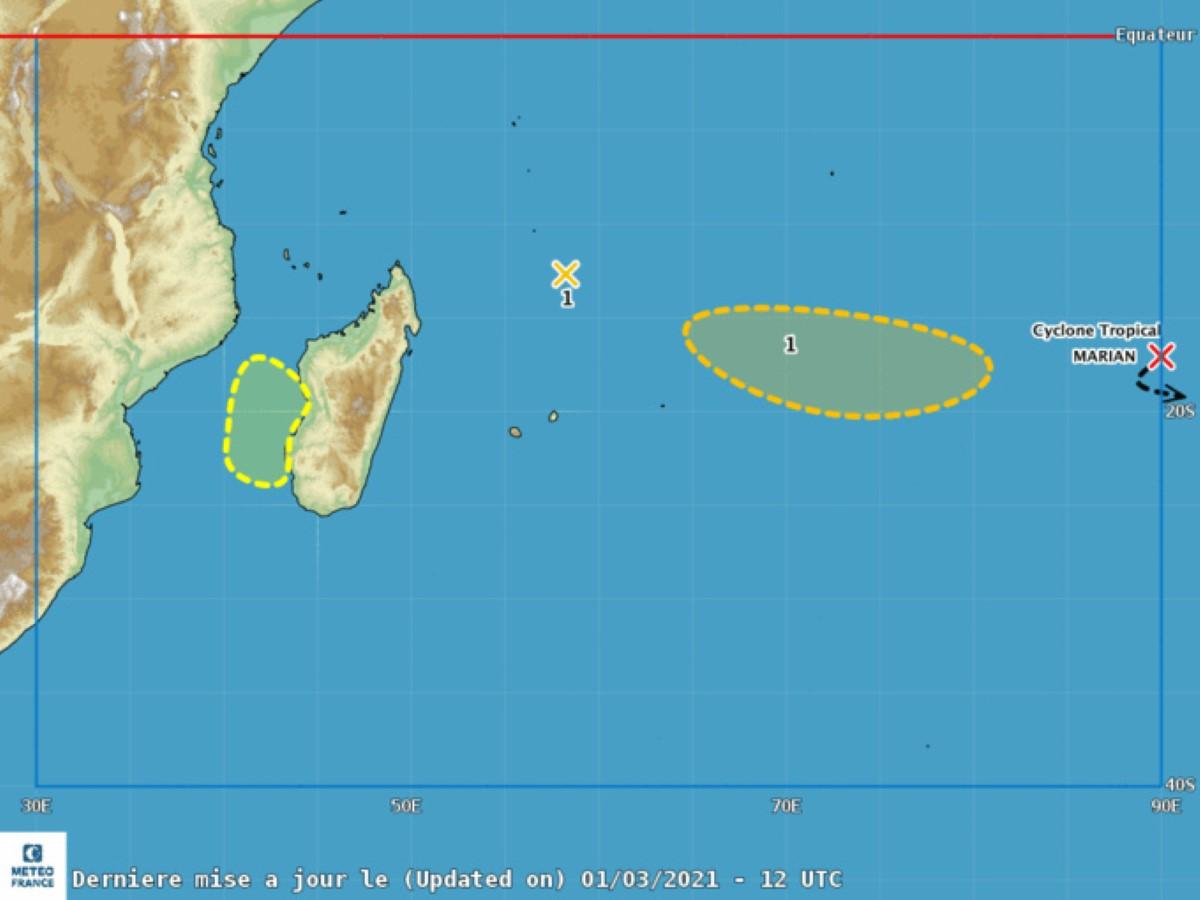 Activité cyclonique : Risque de formation d'une tempête dans les prochains jours