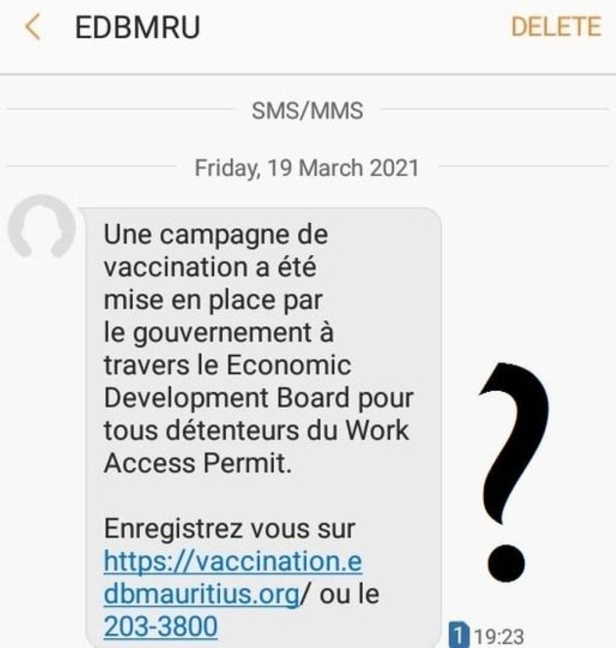 Vaccination contre la covid: Rezistans ek Alternativ dénonce les messages abusifs de l'Economic Development Board