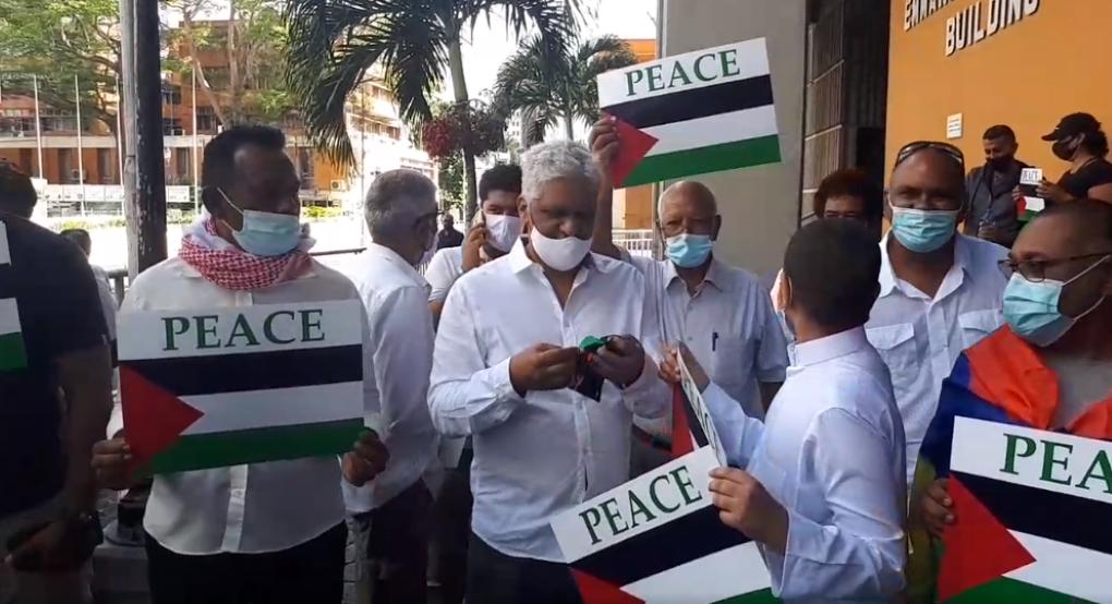 Manifestation pacifique en soutien à la Palestine dans les rues de la capitale
