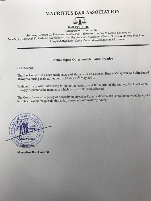 Yatin Varma : « La pratik de la polis ki al gramatin, 01h30 di matin, pran Rama vinn kazern. Li inakseptab »