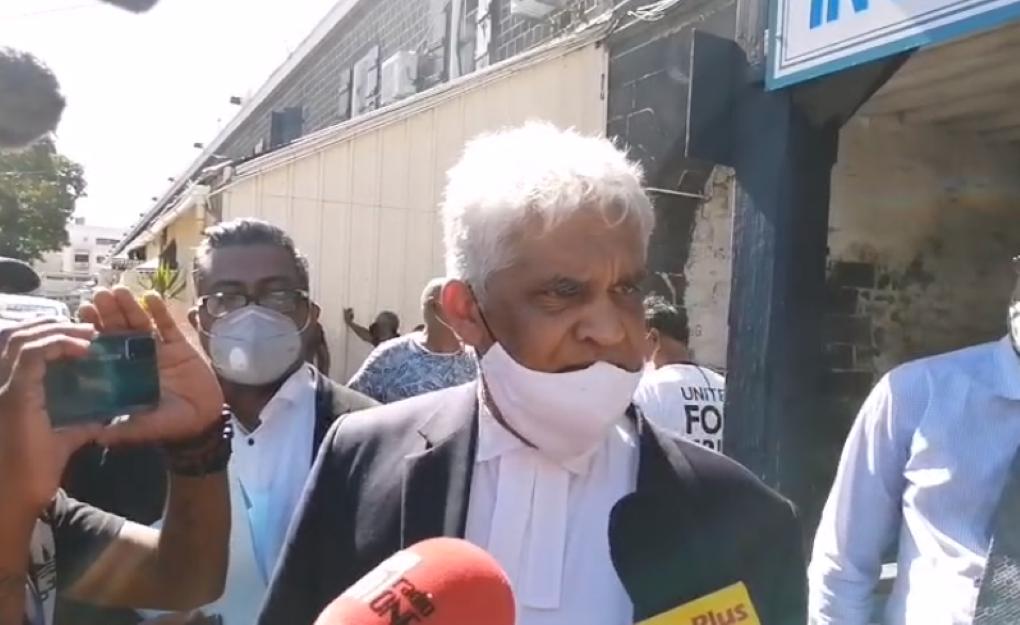 Me Rama Valayden affirme qu'aucune accusation provisoire ne sera logée contre lui