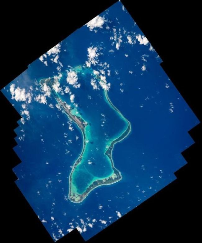 Thomas Pesquet photographie l'atoll Diego Garcia depuis l'espace
