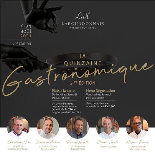 """""""La Quinzaine Gastronomique"""" : Cinq Chefs, cinq univers et une symphonie de saveurs"""