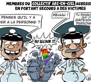 [KOK] Le dessin du jour : Membres du Collectif agressés en portant secours à des victimes