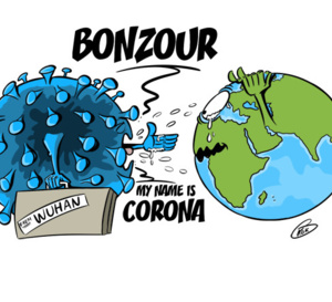 [KOK] Le dessin du jour : My name is Corona