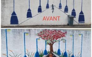 📷 Fresque murale au Centre Social Marie Reine de la Paix