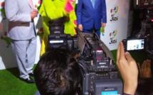 La mascotte officielle des Jeux des îles est une cateau verte : Krouink