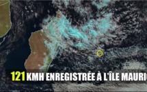 Une rafale maxi de 121 km/h enregistrée à l'île Maurice
