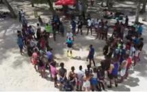 [Drone] Un stage de MuayThai sur la plage mauricienne