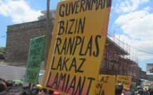 Manifestation dans le combat sur l'amiante, dans les rues de la capitale