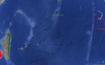 La zone perturbée 91S suivie à plus de 4000km de Maurice