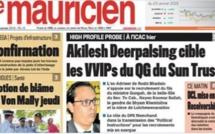 L'édition papier du journal le Mauricien du 29 janvier indisponible suite à une panne technique