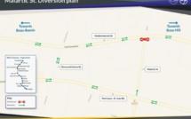Metro Express : Déviations routières à Beau-Bassin
