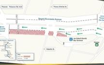 Travaux Metro Express à Curepipe : La rue Swami Sivananda partiellement fermée à la circulation