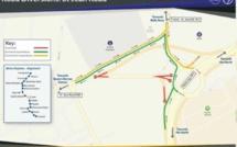 Travaux Metro Express à Quatre-Bornes : Plan de déviations à compter du samedi 10 août