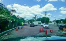 A Rivière-Noire : Un revêtement routier avec du pavé dans un virage, donne des frissons aux automobilistes