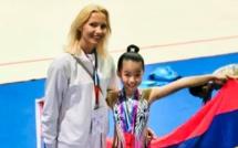 📷 Dubai International Rhythmic Championship : La Mauricienne Meghan Aling, 9 ans, décroche deux médailles d'or au DuGym 2019, le.