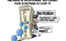 [KOK] Le dessin du jour : Une barre de savon offerte aux policiers pour se protéger du Covid-19