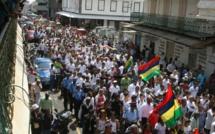 Manifestation du secteur du tourisme et d'Air Mauritius
