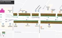 Metro-Express à Quatre-Bornes : La moitié de la route Saint-Jean se transforme en deux-voies uniquement, à partir de ce samedi