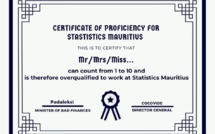 [Paul Lismore] Urgently wanted! Someone who can count to 10 to lead Statistics Mauritius...