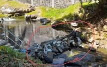 [Photos] Suspicion d'acte malveillant à la rivière Mesnil à Phoenix