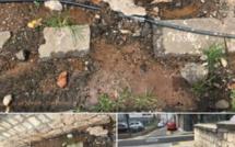 """Perte d'eau à St Louis Street à Port Louis depuis 2016. """"Pourquoi se gêner?"""""""