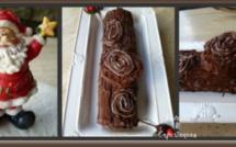 La recette de Emmanuelle : La bûche de Noël chocolat marron et sans beurre