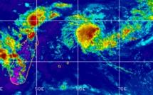 La  future tempête Eloïse à 1370 km au nord-est de Maurice